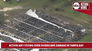 Greenhouse damage in Hardee County after Hurricane Irma