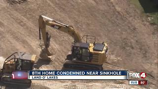 8th home condemned due to massive sinkhole in Pasco County - Video