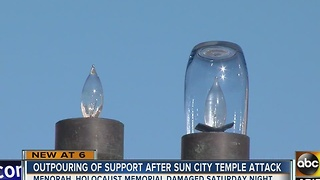 Community comes to support after temple attack - Video