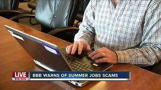 Officials warn summer job seekers to be on the lookout for scams - Video