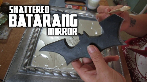 Spectacular Batman shattered batarang mirror art
