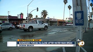 Businesses forced to close after water main break