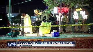 Early morning pursuit turns deadly in Waukesha County - Video