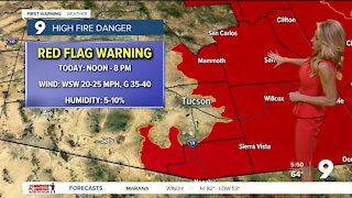 Strong winds and high fire danger