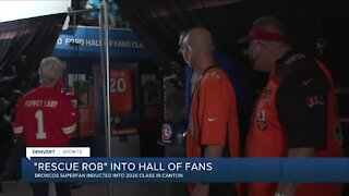 Denver Broncos fan, Rescue Rob, featured at Hall of Fans