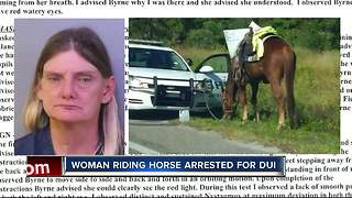 Deputies: Polk City woman arrested for DUI on a horse, charged with animal neglect - Video