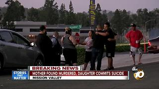 Mother killed, daughter found dead in Mission Valley