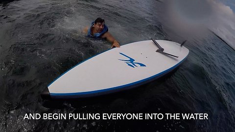 Mysterious Powers of Manatee Knocks Family off Peddle Boards