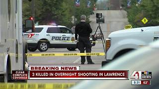 3 killed in overnight shooting in Lawrence - Video