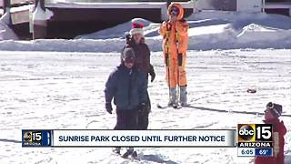 Sunrise Park Resort closed - Video
