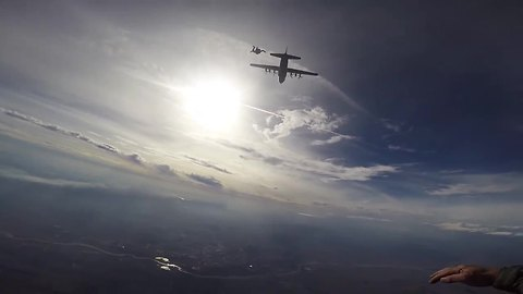 POV: Extreme BASE jumping and military skydiving