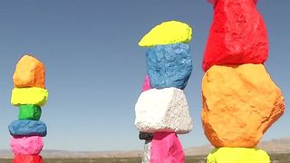 Seven Magic Mountains art display extended through 2018 - Video