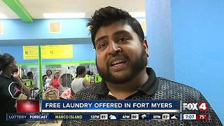 Location for free laundry this weekend - Video