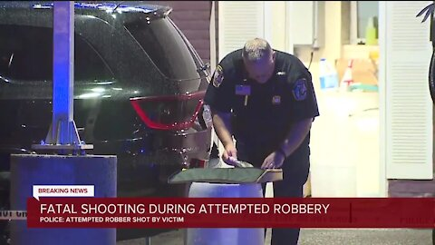 Deadly shooting during attempted armed robbery