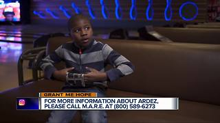 Grant Me Hope: Ardez enjoys action figures, super heroes, and playing basketball - Video