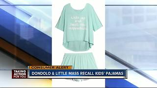 Little Mass and Dondolo recalls children's sleepwear due to violation of federal flammability standard - Video
