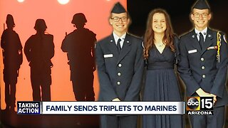Valley family sends triplets to Marines