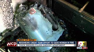 Neighbors rescue elderly woman from Cheviot fire - Video