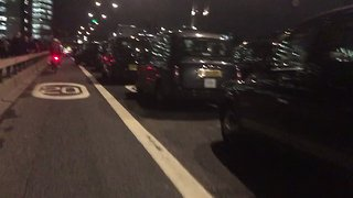 Taxis Block London Bridge to Protest Proposed Vehicle Restrictions