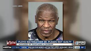 Floyd Mayweather Sr. pleads not guilty to punching woman - Video