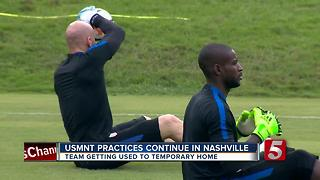 U.S. Men's Soccer Team Preps For July Game In Nashville - Video