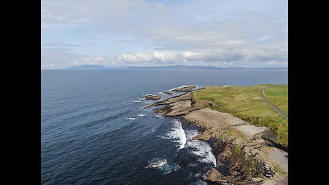 Drone footage captures Ireland's spectacular Northwest coastline