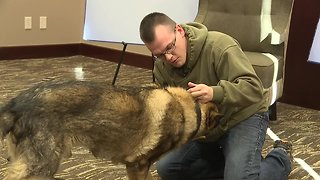 Mountain home airman reunited with his military dog from South Korea