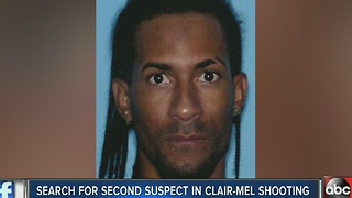 Search for second suspect in Clair-Mel shooting