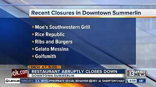 Restaurant abruptly closes in Downtown Summerlin - Video