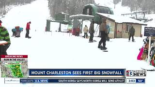 Mount Charleston sees first significant snowfall - Video