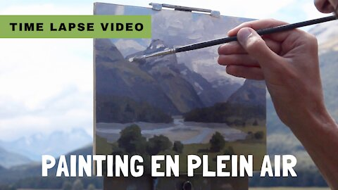 Time Lapse Video - Plein Air Painting in Paradise, New Zealand