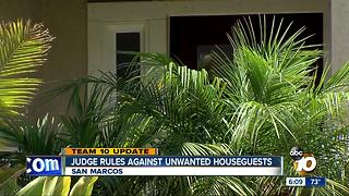 Judge rules against unwanted houseguests - Video