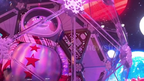 Macy's in Manhattan unveil their magical Christmas window display