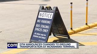 Detroit Metro Airport announces changes to ground transportation