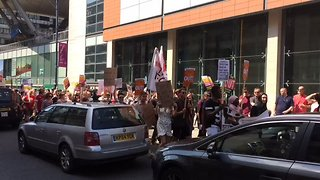#JusticeForGrenfell Protesters Chant 'Tories Out' During Manchester March - Video