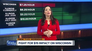 What effect will Illinois' minimum wage proposal have on Wisconsin?