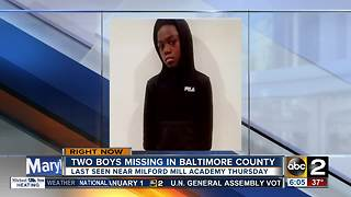 Two young boys, 9 and 11-year-old missing in Baltimore County - Video