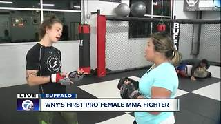 Thuy Lan gets taken down by WNY's first pro female MMA fighter - Video