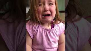 Confused Little Girl Cannot Stop Dreaming About Waffles - Video