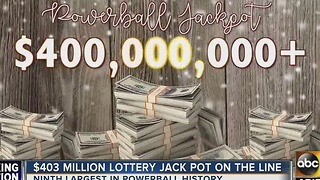 $403 million lottery jackpot on the line - Video