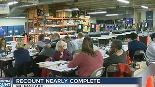 Wisconsin recount nearly complete - Video