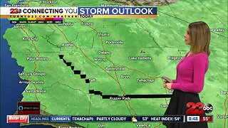 Scattered showers, possible isolated thunderstorms Sunday