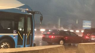 Tornado-Warned Storm Sweeps Over Dulles Airport - Video