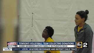 Towson Volleyball holds drive for Puerto Rico - Video