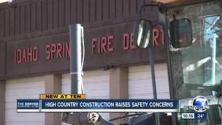 Idaho Springs says fire trucks are ready to launch in an emergency despite construction - Video