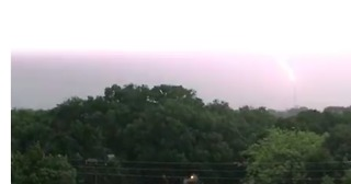 Lightning Strikes as Tropical Storm Emily Moves Through Sarasota - Video