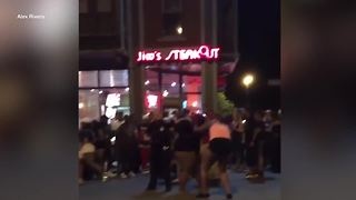 Buffalo Police say they made no arrests after a street fight early Sunday in Allentown - Video