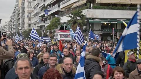 Thousands rally in Thessaloniki against 'Macedonia' name talks