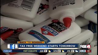 Back to School: Supplies tax-free this weekend - Video