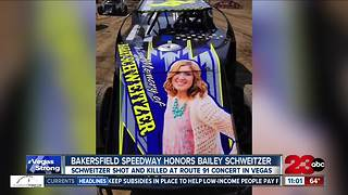 Remembering Bailey Schweitzer at Bakersfield Speedway and Centennial High School - Video